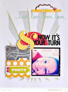 It's Your Turn by Sasha at Studio Calico using the Block Party scrapbook kit and add ons