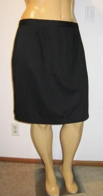 Bentley Black Pinstriped Straight Skirt - NWT - Size 20