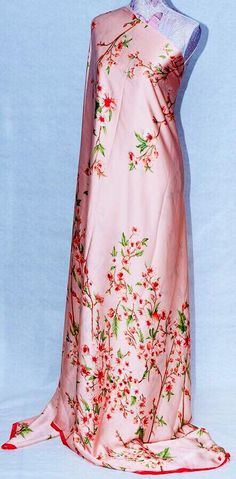 Pure silk fabric Pink floral silk digital print Italian