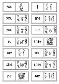 Subject pronouns DOMINO worksheet – Free ESL printable worksheets made by teache… - education Teaching Pronouns, Pronoun Activities, Pronoun Worksheets, Social Studies Worksheets, Printable Worksheets, Prepositions, English Worksheets For Kindergarten, English Grammar Worksheets, Kindergarten Language Arts