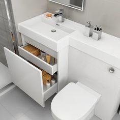 1206mm Olympia Gloss White Drawer Vanity Unit - Sabrosa Pan