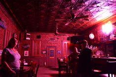 The Pioneer Saloon In Goodsprings, NV.  Just has new lighting.