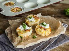 Der Klassiker im Miniformat: Zwiebelkuchen-Muffins