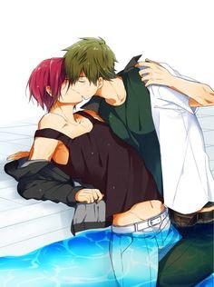 Rin & Makoto | Free! #anime #yaoi