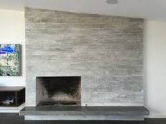 Image result for concrete fireplace finish