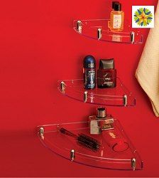 pepperfry is running an offer where you can buy Crystal Jumbo Set of 3 Corner Shelves worth Rs.600 at Rs. 448.