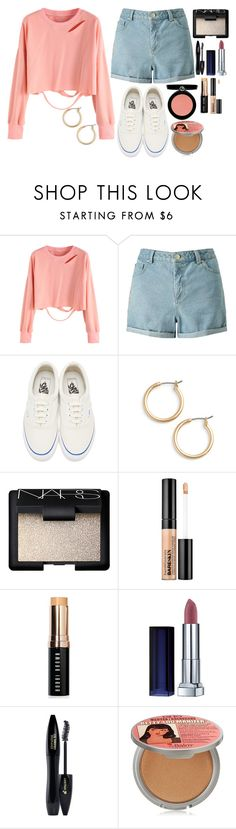"""""""Untitled #8256"""" by gabriellewidger ❤ liked on Polyvore featuring Miss Selfridge, Vans, Nordstrom, NARS Cosmetics, Bare Escentuals, Bobbi Brown Cosmetics, Maybelline, Lancôme, TheBalm and Armani Beauty"""