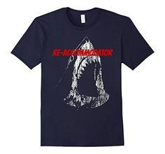 Men's Shark Re-Accommodator T-Shirt Large Navy Flying Tees