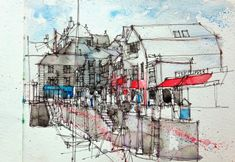 Simone Ridyard : Drawing in Cornwall over Easter