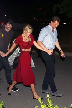 Taylor and Tom leaving Selena's concert in Nashville 6.21.16