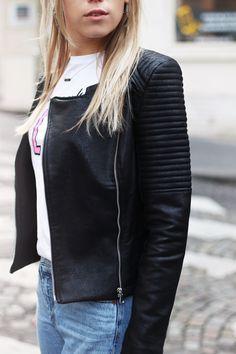 Leren Biker Jacket - Zwart | My Jewellery