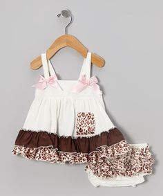 Take+a+look+at+the+White+&+Leopard+Swing+Top+&+Bloomers+-+Infant+on+#zulily+today!