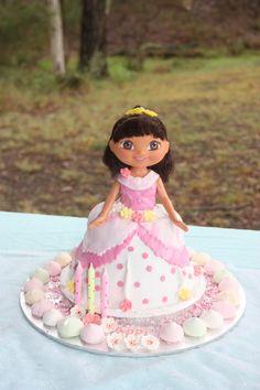 Birthday cake Dora Birthday Party