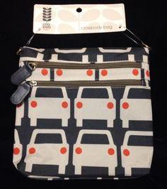 Orla Kiely Cars Bag Crossbody Black White Red Purse New Tote Messenger Crossover #OrlaKiely #MessengerCrossBody