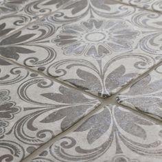 SomerTile 7.75x7.75-inch Gavras Cendra Décor Dahlia Ceramic Floor and Wall Tile (Case of 25)