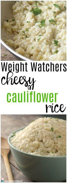 Weight Watchers Cheesy Cauliflower Rice is a great healthy side dish and perfect for holiday meals. This recipe is low in SmartPoints and delicious. It is also a great low carb recipe.