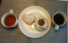 #Breakfasts for 2 #heartdonut #tea #Coffee #happymorning