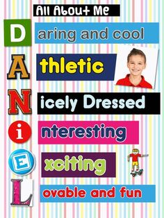 Great site with great resources! iPad All About Me Acrostic - Pic Collage App