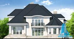 Proiectul de Casa de locuit cu parter, mansarda, demisol si garaj | Proiectari si Constructii Bungalow House Design, Unique House Design, Home Design Plans, Design Case, Home Fashion, Outdoor Gardens, Garden Design, Villa, Mansions