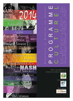 Page de garde du Programme Culturel des Amognes 2014