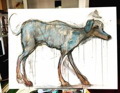 The Soul Dog  This one is a kind of crazy mixture of charcoal... Art watercolor acrylic doodle art painting artistsoftumblr watercolor