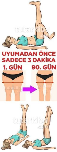 Uykudan Önce 3 Dakikada Bacak İnceltme Hareketleri fitness Uykudan Önc… Leg Slimming Movements in 3 Minutes Before Sleep fitness You can thin your legs in 3 minutes before sleep Butt Workout At Home, Six Pack Abs Workout, Belly Fat Workout, Gym Workouts, Workout Exercises, Workout Routines, Workout Plans, Fitness Home, Health Fitness