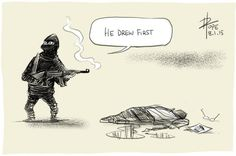 Cartoonists around the world have reacted to a terror attack in Paris killing 12 people, including a police officer, at the controversial satire newspaper Charlie Hebdo. The New Yorker, Anne Sinclair, Twin Towers, Georges Wolinski, Religion, Paris Attack, Charlie Hebdo, Charlie Chaplin, Tribute