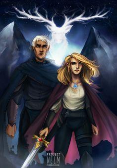 Aelin and Rowan by projectNelm