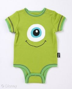 Monster's Inc. Onesie. :D I would totally have my kid wear this!