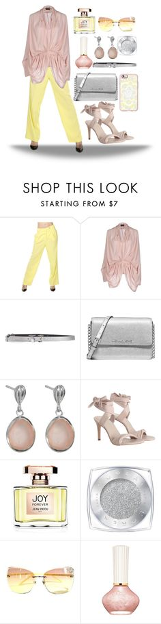 """Rose quartz & yellow"" by confusioninme ❤ liked on Polyvore featuring Ermanno Scervino, Tom Ford, Just Cavalli, Michael Kors, Juvi, Zimmermann, Jean Patou, L'Oréal Paris, Gucci and Paul & Joe"