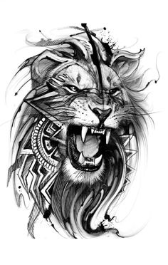 Lion Chest Tattoo, Lion Forearm Tattoos, Lion Tattoo Sleeves, Lion Head Tattoos, Bull Tattoos, Mens Lion Tattoo, Leo Tattoos, Animal Tattoos, Body Art Tattoos