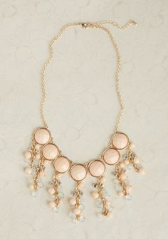 at Ruche // dangly necklace Jewelry Accessories, Fashion Accessories, Fashion Jewelry, Apricot Wedding, Beaded Necklace, Gold Necklace, Necklaces, Style Icons, Bangles