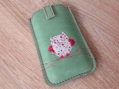 Eule+Handytasche+nach+Maß+-+Leder+Case++von+Angie+Holste+-++Manufaktur+☆+Accessoires+aus+Leder+auf+DaWanda.com
