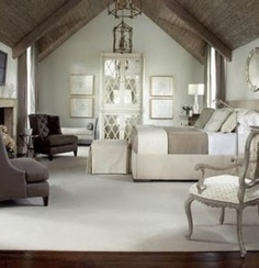 Master Bedroom design- love the neutral colors