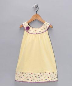 Take a look at this Yellow Floral Yoke Dress - Toddler & Girls by Ashley Morgan on #zulily today!