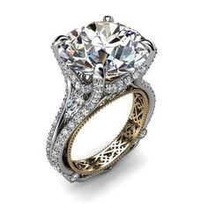Fanous Jeweler's 18 Karat White Gold & Diamond ring.