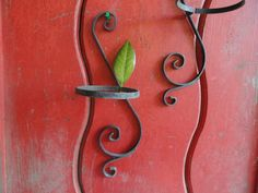 Wrought Iron Plant Holders (set of 2) by cherylanngoods on Etsy