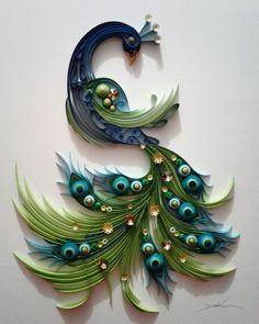 13 Paper Quilling Design Ideas That Will Stun Your Friends Neli Quilling, Peacock Quilling, Paper Quilling Cards, Quilling Work, Paper Quilling Patterns, Quilled Paper Art, Quilling Craft, Paper Crafts Origami, Art Origami
