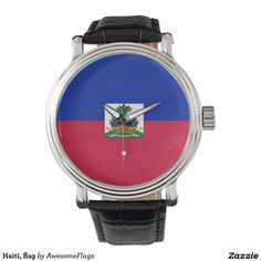 Haiti, flag wrist watches