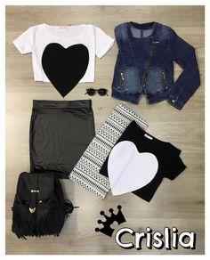 Black or White ? Μπλούζα καρδιά one size στα 9,99€ Βινύλ midi φούστα στα 14,99€ Βινύλ μινι φουστα στα 12,99€ Εμπριμέ φούστα στα 9,99€ Τζιν μπουφάν στα 29,99€ Γυαλιά στα 5,99€ Σακίδιο πλάτης στα 19,99€ #crislia #blacknwhite #newcollection #leather #skirt #jeans #jacket #totaloutfit #shoponline #backpack #spring #2016  Κάνε την παραγγελία σου: •με μήνυμα inbox •στο eshop μας www.crislia.com •τηλεφωνικά στο 210-5223012 ή 210-5242171 καθημερινά 10:00-18:00!
