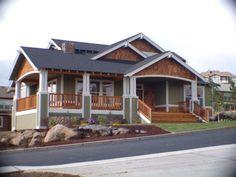 craftsman~ loving the porch and cedar shakes