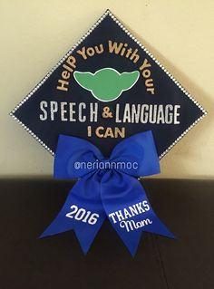 One step closer to becoming a Speech Language Pathologist. My Star Wars themed graduation cap. #speechie #slpa #slp