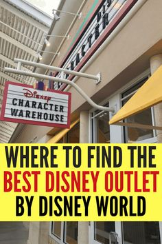 Save money at the best Disney Outlet closest to Walt Disney World! You can save up to off on Walt Disney World Theme Park merchandise at the Character Warehouse near Disney Springs and by Universal. Here's where you can find them. Disney World Secrets, Disney World Christmas, Disney World Characters, Disney World Theme Parks, Disney World Parks, Walt Disney World Vacations, Disney World Tips And Tricks, Disney Tips, Disney Worlds