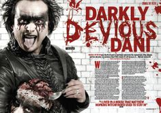 MHR212 Cradle Of Filth feature from 2010 for Metal Hammer Magazine in the UK with photographer Steve Brown.