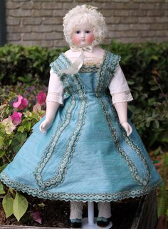 Early Blampoix French Fashion on Wood Body with Swivel Waist, Bisque from signaturedolls on Ruby Lane