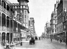 Old sketch of Pritchard Street, Johannesburg - source unknown Johannesburg City, Third World Countries, Port Elizabeth, My Family History, Car In The World, Historical Pictures, African History, Old Pictures