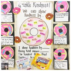 Teaching kindness - I've been waiting all year to do this! We read The Jelly Donut Difference and talked all morning about kindness! Classroom Behavior, Classroom Themes, Classroom Organization, Kindergarten Classroom, Future Classroom, Classroom Management, Teaching Kindness, Kindness Activities, Social Emotional Learning