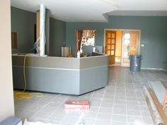 Here is the base for the new front counter.