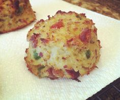 "Paleo Cauliflower ""Biscuits"" with Bacon and Jalapeño"