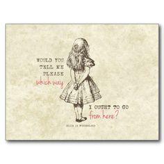 Alice no país das maravilhas cartão postal